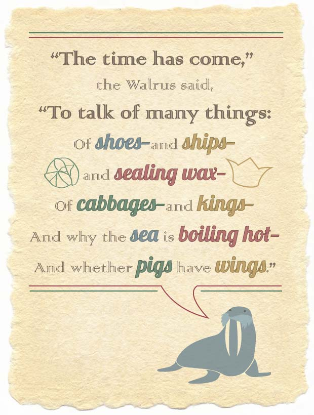 illustrated quote from the walrus and the carpenter