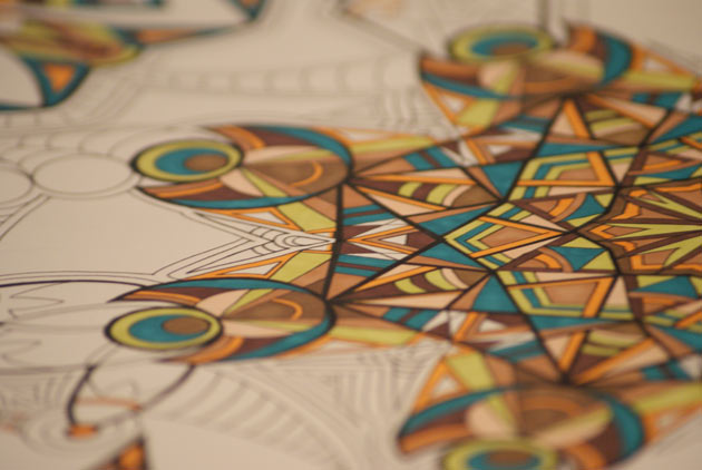 kaleidoscope marker drawing