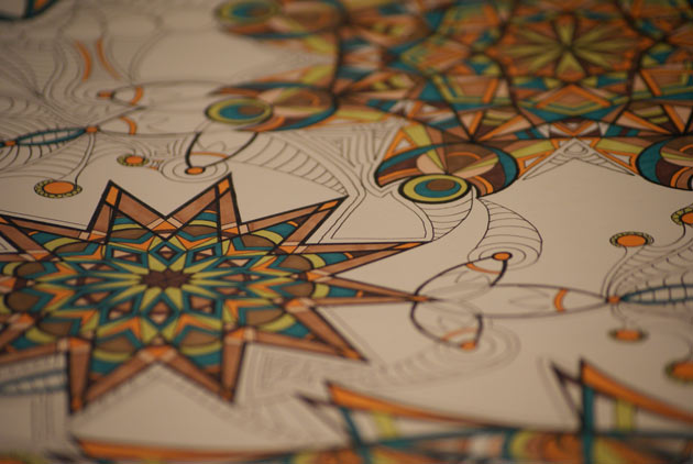 detail shot of kaleidoscope marker drawing