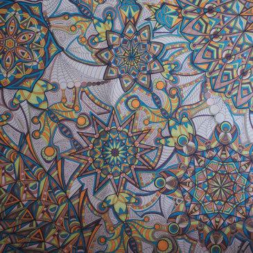 Kaleidoscope Artwork Takes Forever {finished piece}