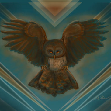 Whooooo Loves Owls? {new digital painting}