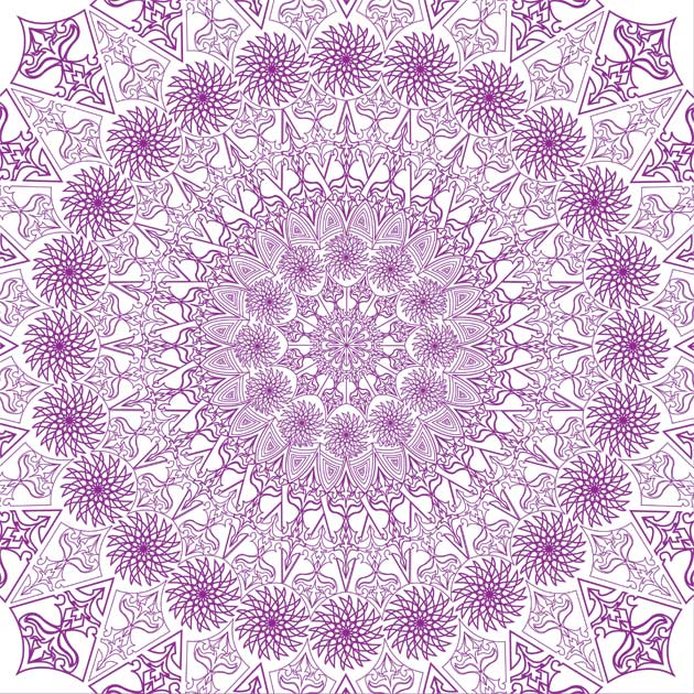 purple-outline-kaleidoscope