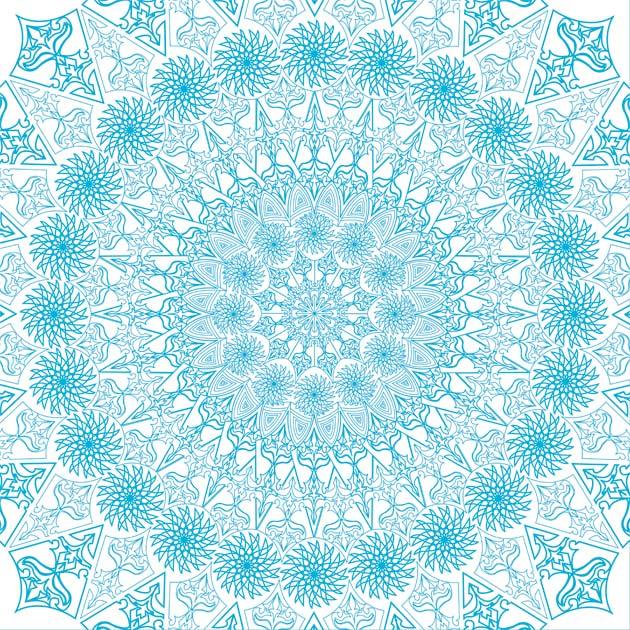 turquoise-outline-kaleidoscope