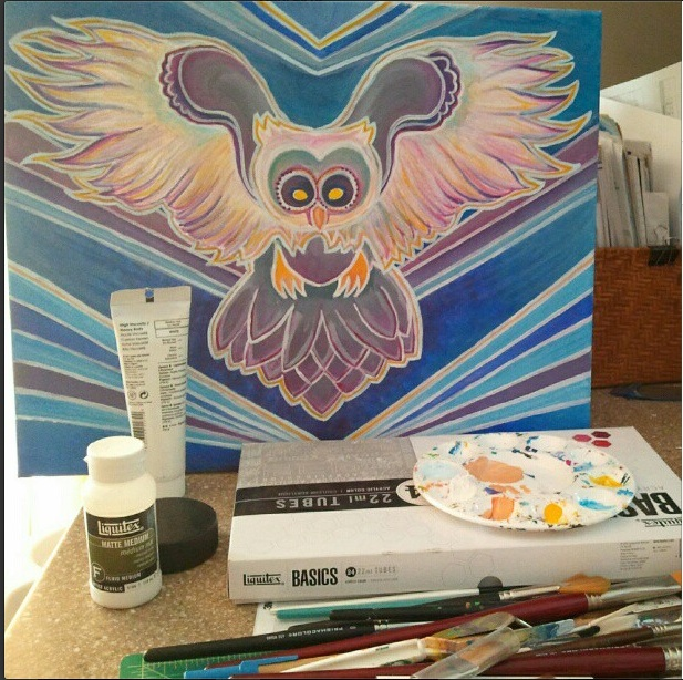 owl painting progression 3