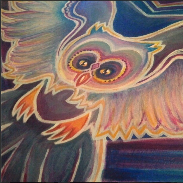 owl painting progression 4