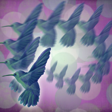 More Hummingbird Artwork {purple and magenta…per the usual}