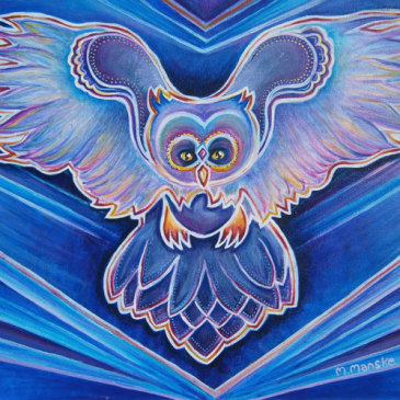 New Acrylic Owl Painting