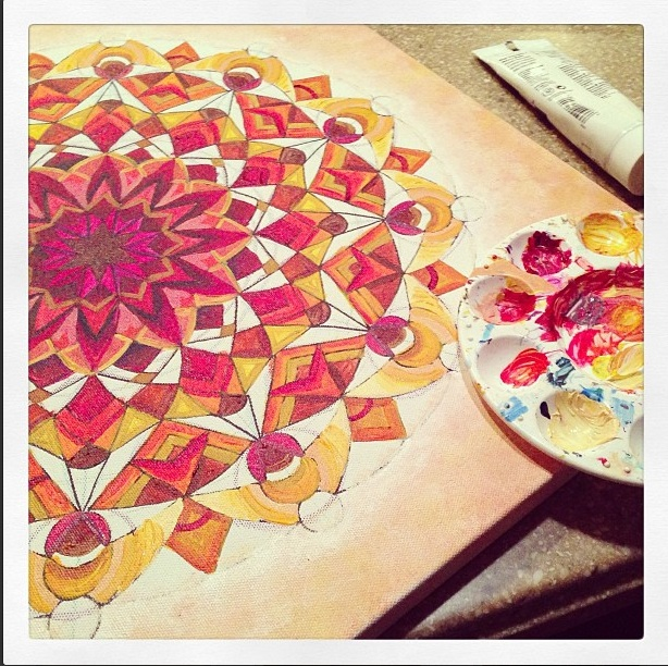 Orange mandala progression 2