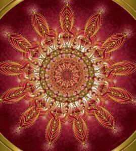 Divine Red Mandala