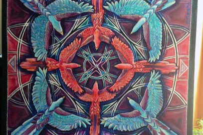 The Bird is the Word {New Mandala Bird Acrylic Painting}