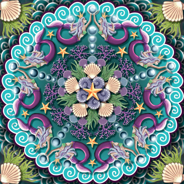 Mermaid Mandala